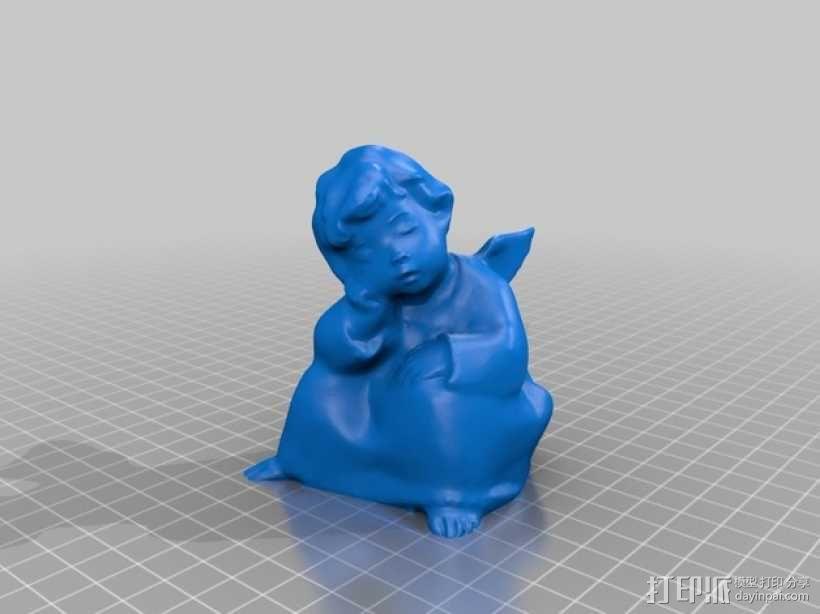 打盹的天使 模型 3D模型  图1