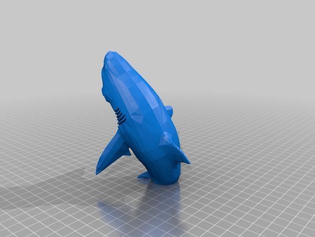 大白鲨 模型 3D模型  图2