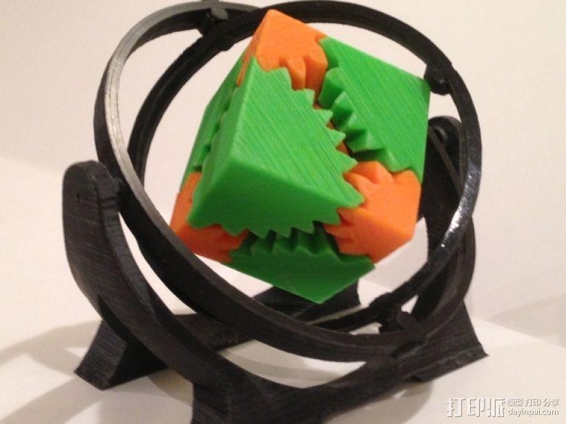 回转仪 3D模型  图1