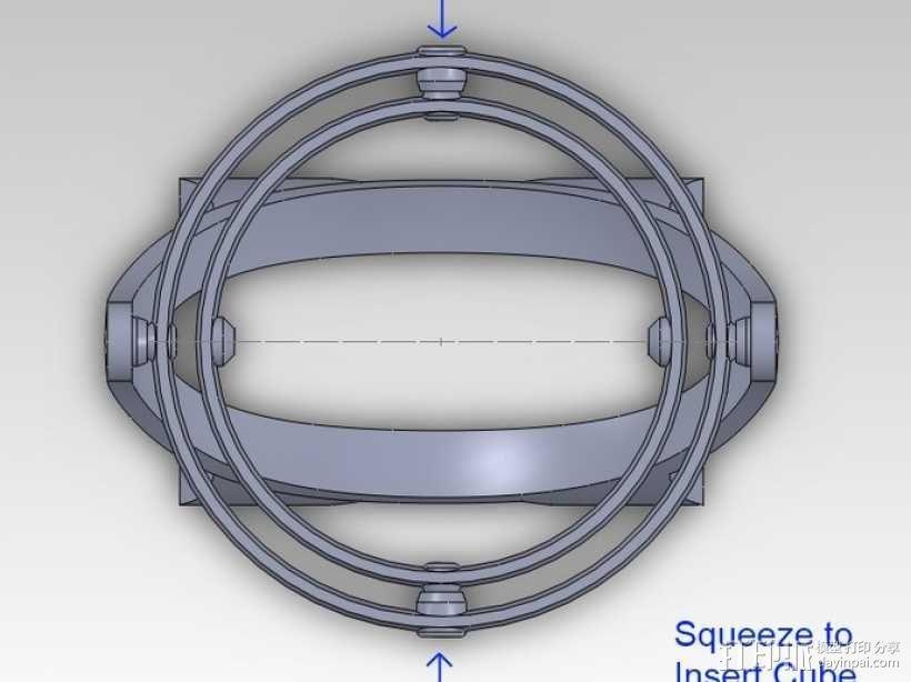 回转仪 3D模型  图4