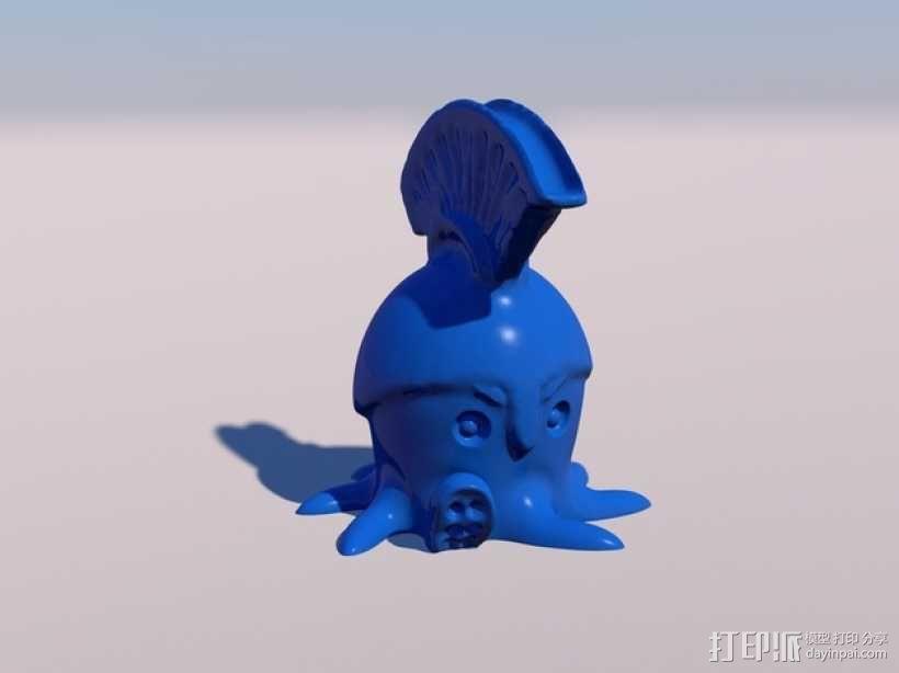 章鱼战士 3D模型  图1