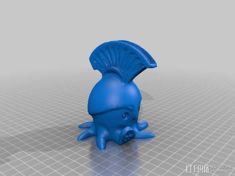 章鱼战士 3D模型  图2