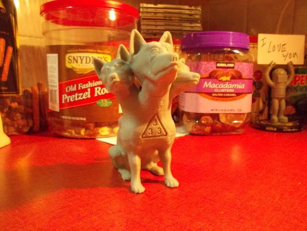 地狱犬 雕塑 3D模型  图2
