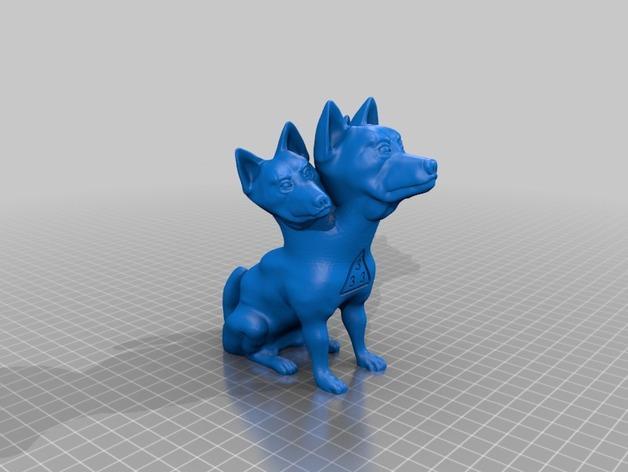 地狱犬 雕塑 3D模型  图6