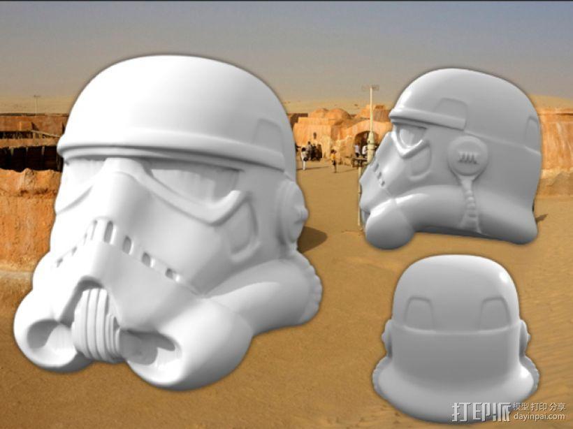 突击队员 雕塑 3D模型  图1