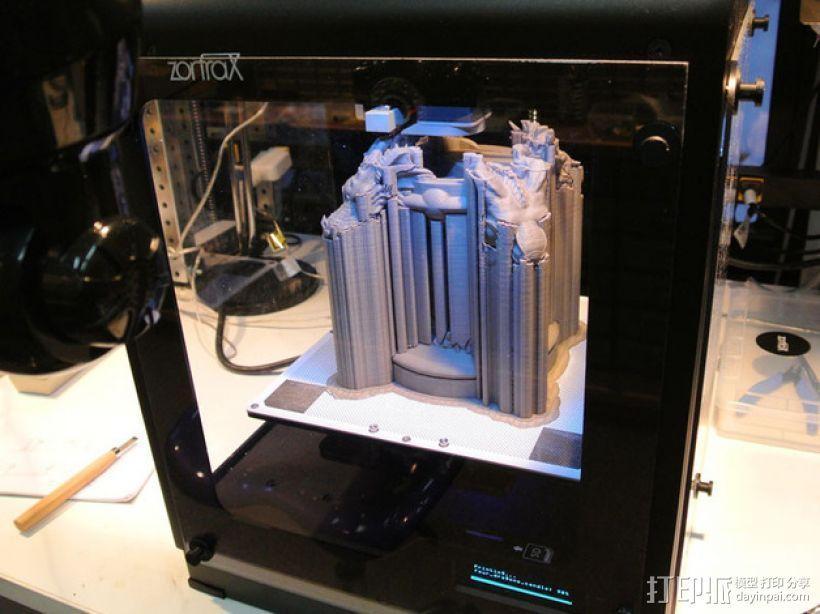 四条龙烛台 3D模型  图5