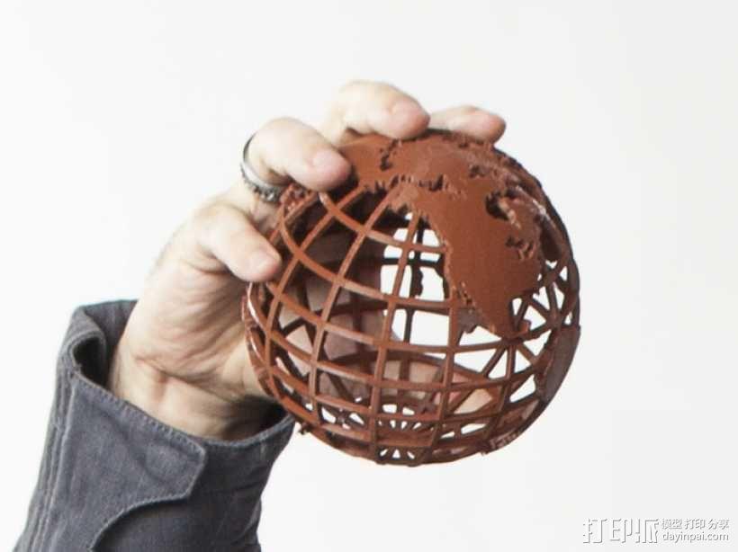 镂空地球模型 3D模型  图1
