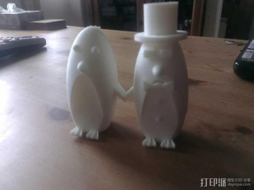 企鹅 蛋糕装饰 3D模型  图1