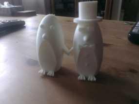 企鹅 蛋糕装饰 3D模型