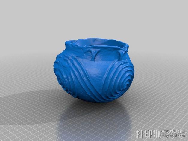 土著居民 螺纹壶模型 3D模型  图2