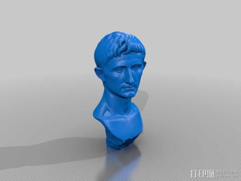 奥古斯都 雕像模型 3D模型  图2
