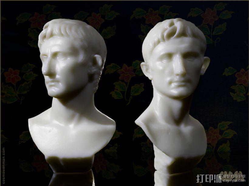 奥古斯都 雕像模型 3D模型  图1