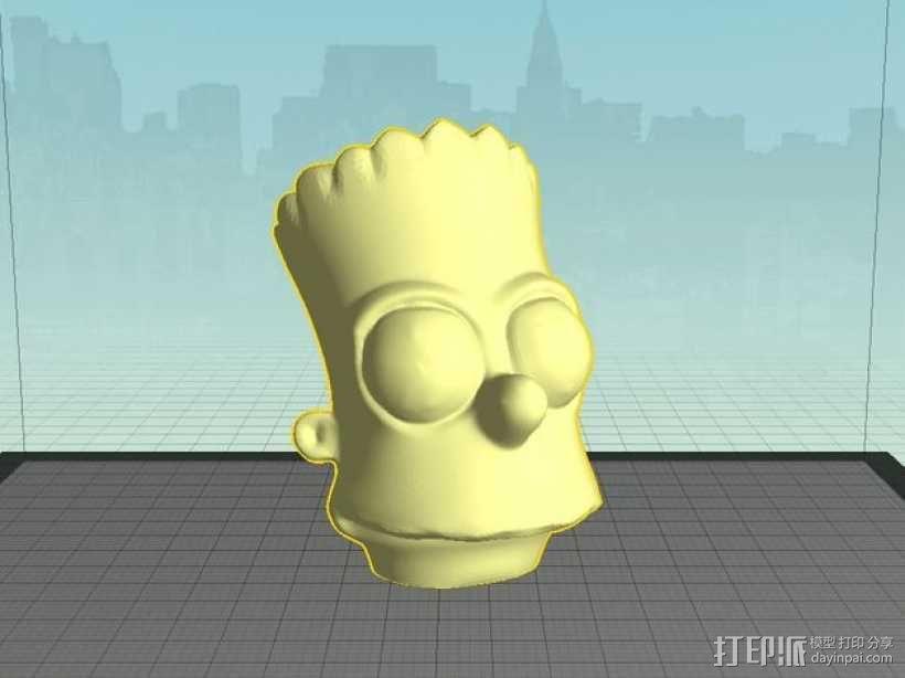 巴特 头像模型 3D模型  图1