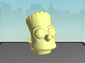 巴特 头像模型 3D模型