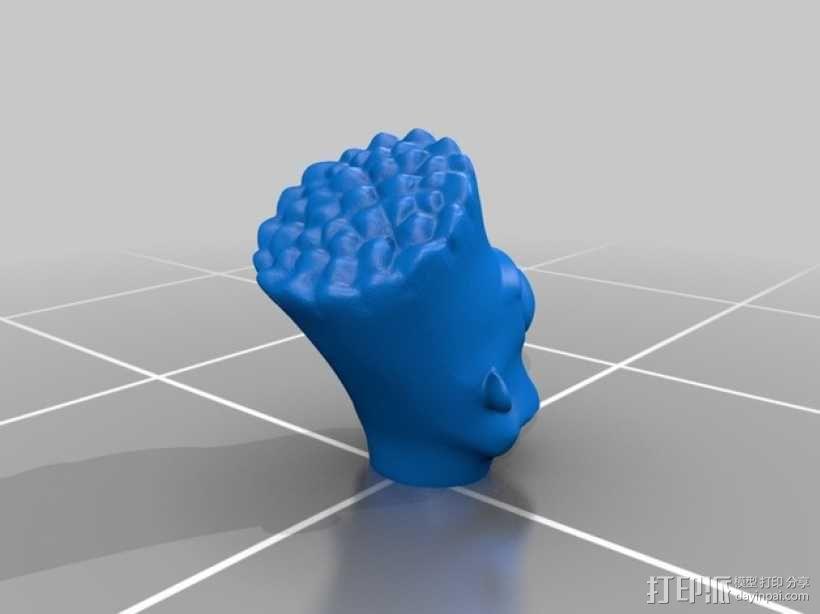 巴特 头像模型 3D模型  图2