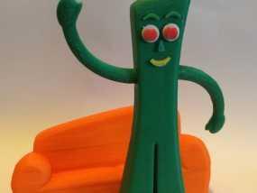 小绿人Gumby 3D模型