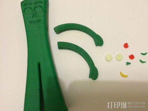 小绿人Gumby 3D模型  图13