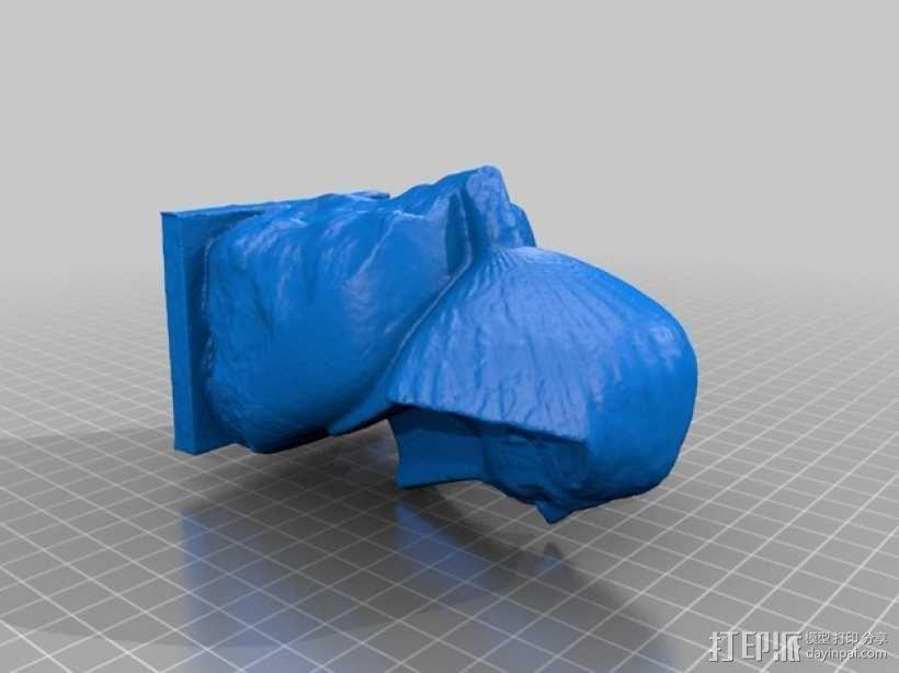 法老王雕塑 3D模型  图2
