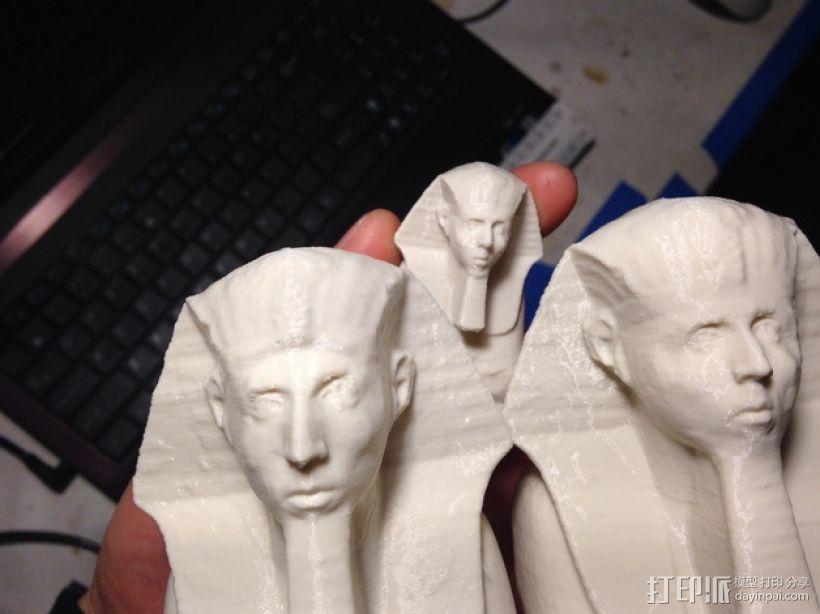 法老王雕塑 3D模型  图1