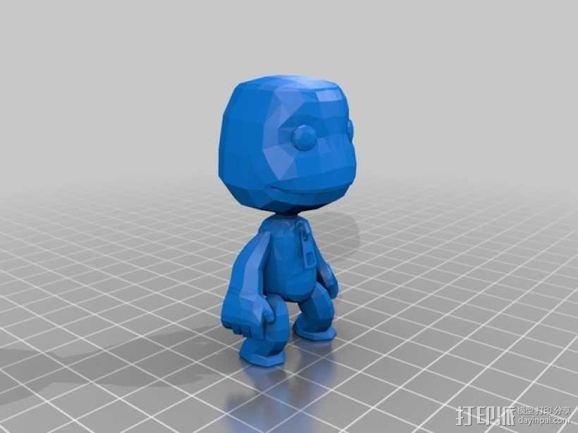 小小大星球的萨克男孩 3D模型  图1