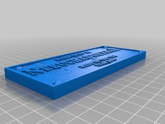 Nebuchadnezzar Placard浮雕模板 3D模型  图2