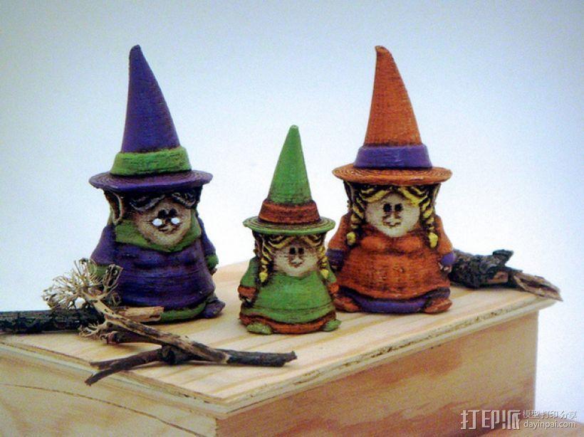 小矮人女巫 雕塑 3D模型  图1