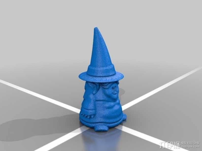 小矮人女巫 雕塑 3D模型  图3