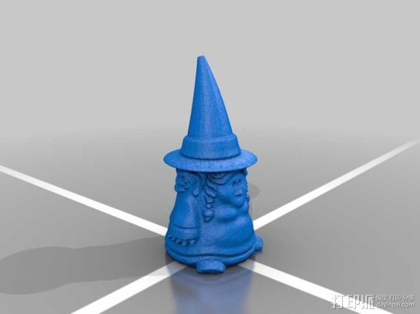 小矮人女巫 雕塑 3D模型  图2