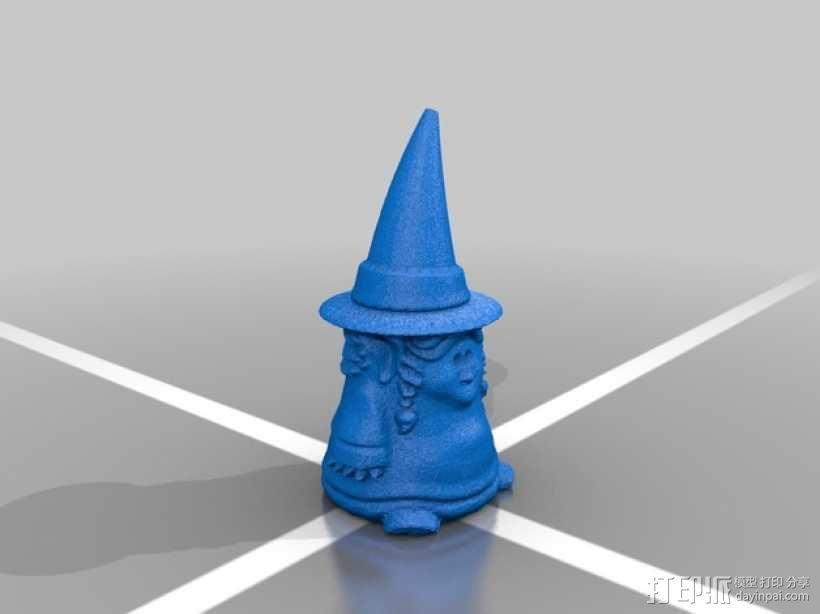 小矮人女巫 雕塑 3D模型  图4