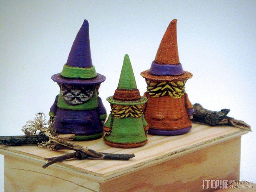 小矮人女巫 雕塑 3D模型  图5