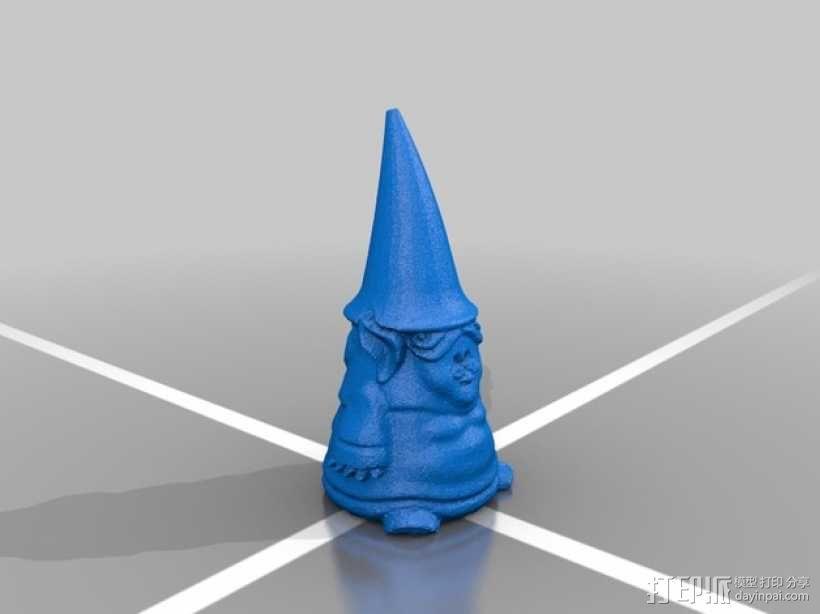 小矮人奶奶 雕塑 3D模型  图2