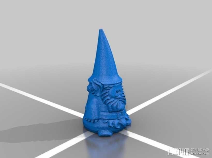小矮人奶奶 雕塑 3D模型  图3