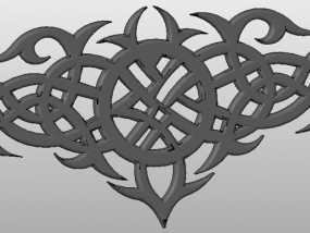凯尔特风 吊坠 3D模型