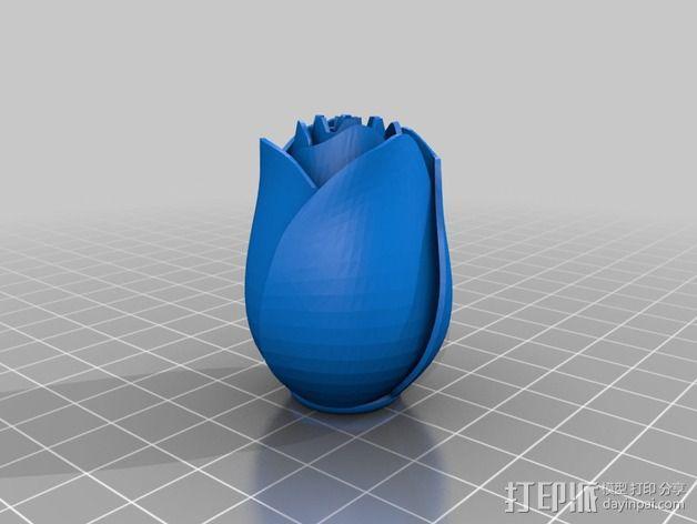 玫瑰花  3D模型  图2