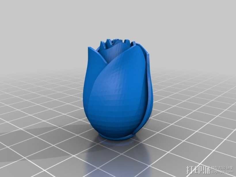 玫瑰花  3D模型  图4