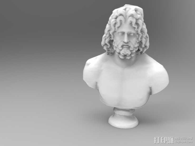 宙斯雕像 3D模型  图1