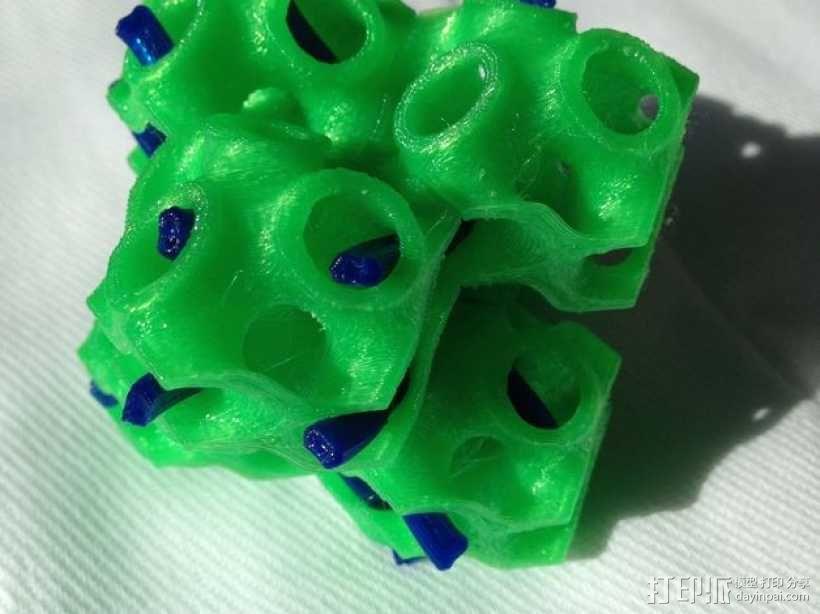 螺旋二十四面体 3D模型  图1