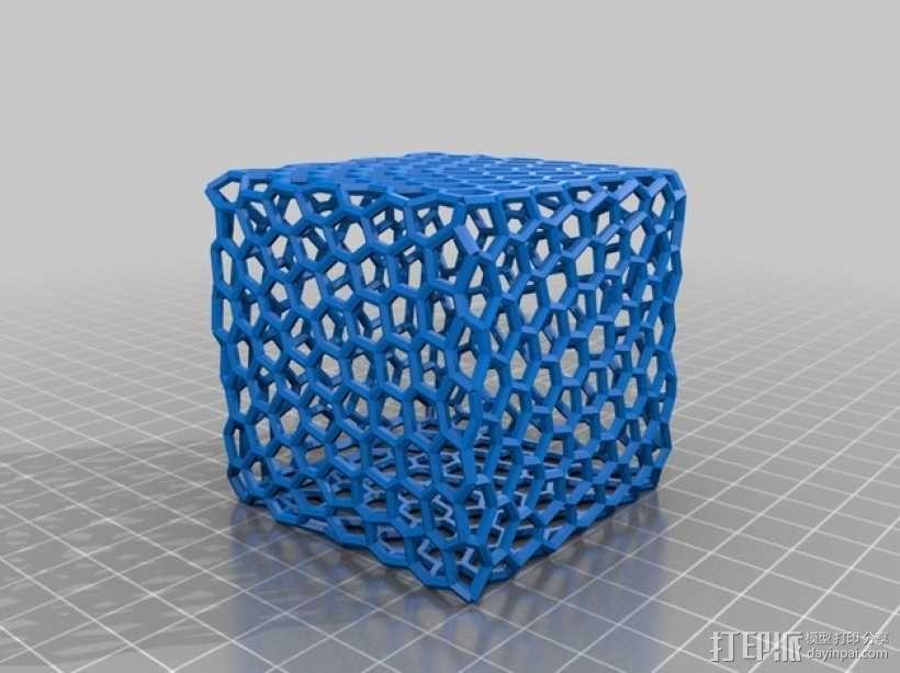 泰森多边形球体 心形体  立方体 3D模型  图2