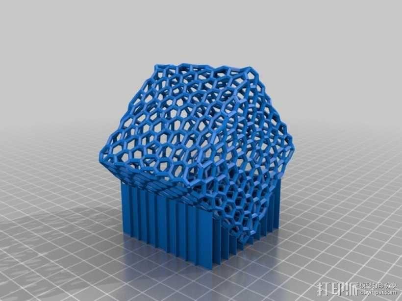 泰森多边形球体 心形体  立方体 3D模型  图3