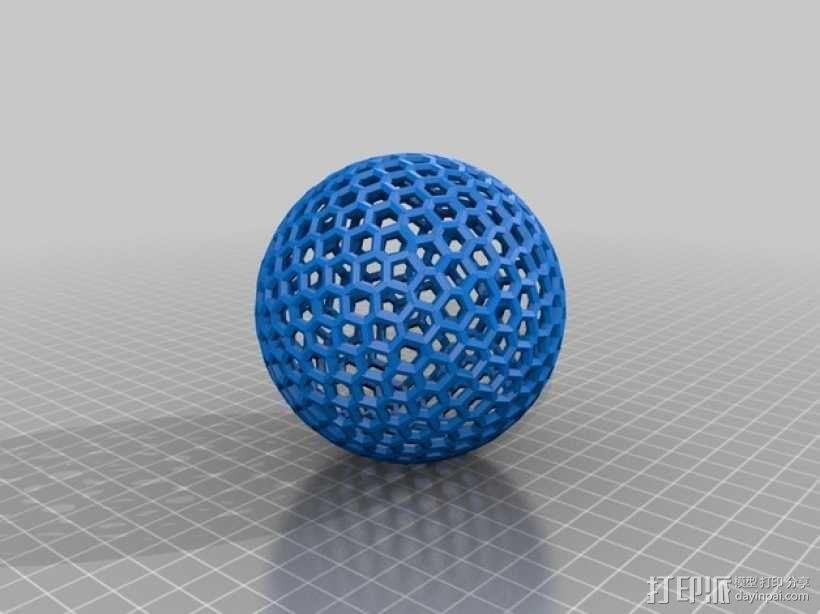 泰森多边形球体 心形体  立方体 3D模型  图4