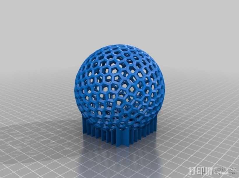 泰森多边形球体 心形体  立方体 3D模型  图6