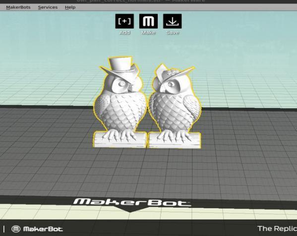 猫头鹰情侣 模型 3D模型  图4