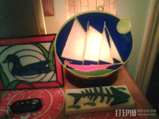 太阳帆船 吊坠 3D模型  图3