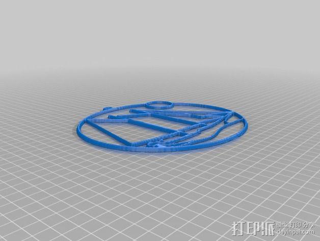 太阳帆船 吊坠 3D模型  图5