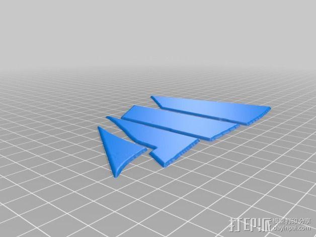 太阳帆船 吊坠 3D模型  图7