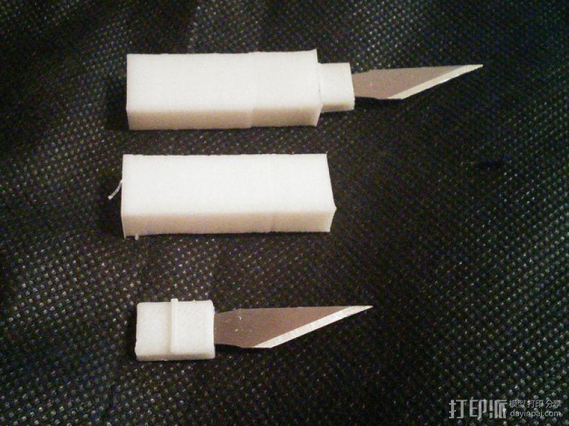 雕刻刀片 刀把和刀鞘 3D模型  图2