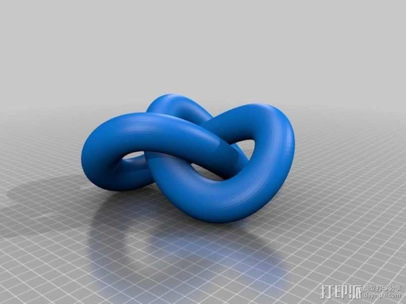 三叶结 3D模型  图2
