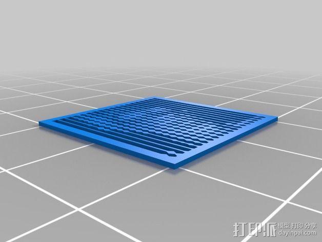 花纹漏字板 3D模型  图5