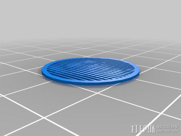 花纹漏字板 3D模型  图4