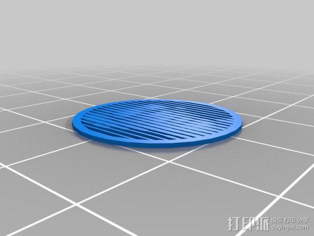 花纹漏字板 3D模型  图6